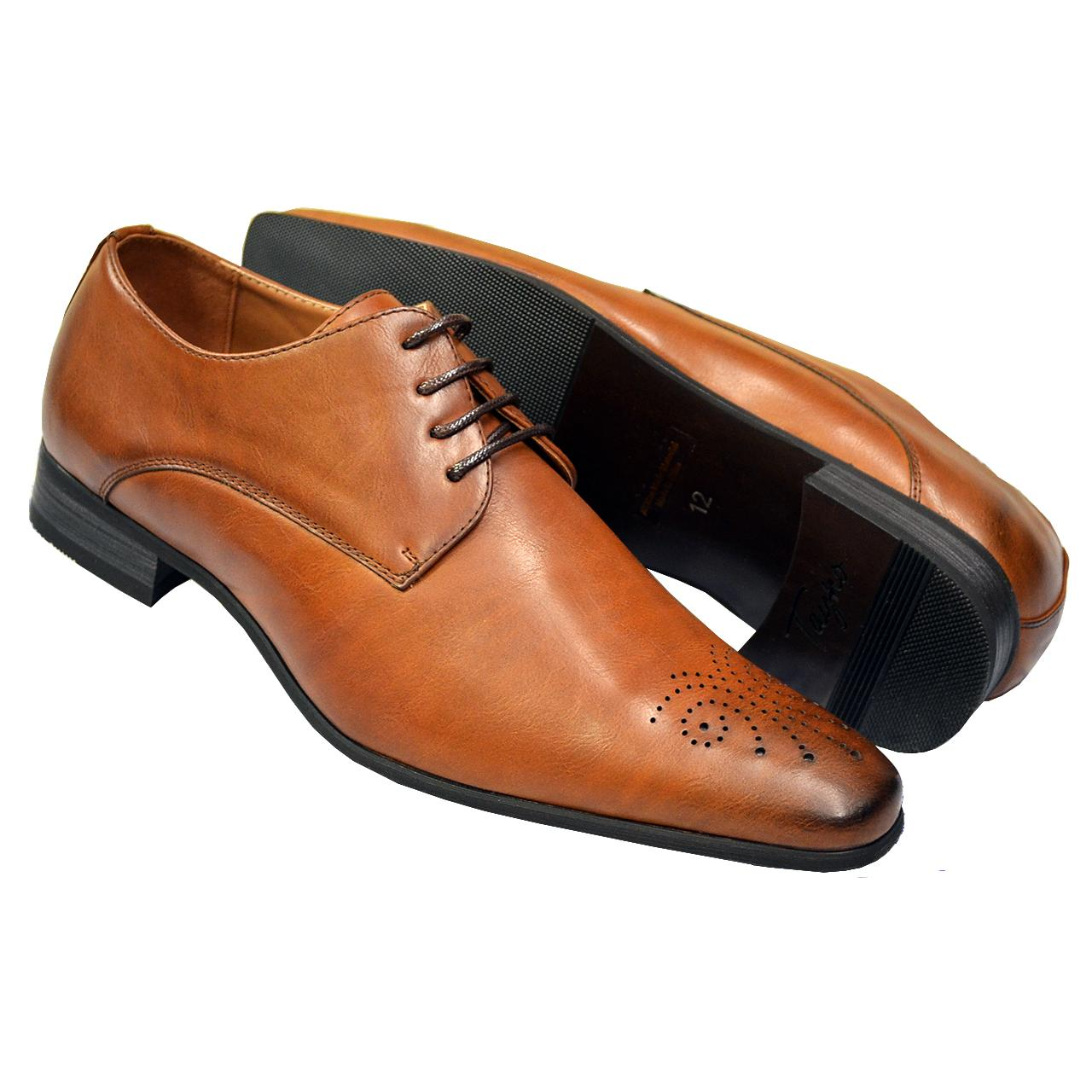 Tayno Brooks Cognac Dress Shoe | Vegan