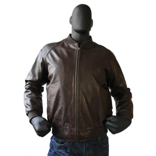 G-Gator Brown Genuine Lambskin Varsity Baseball Bomber Jacket 1051.