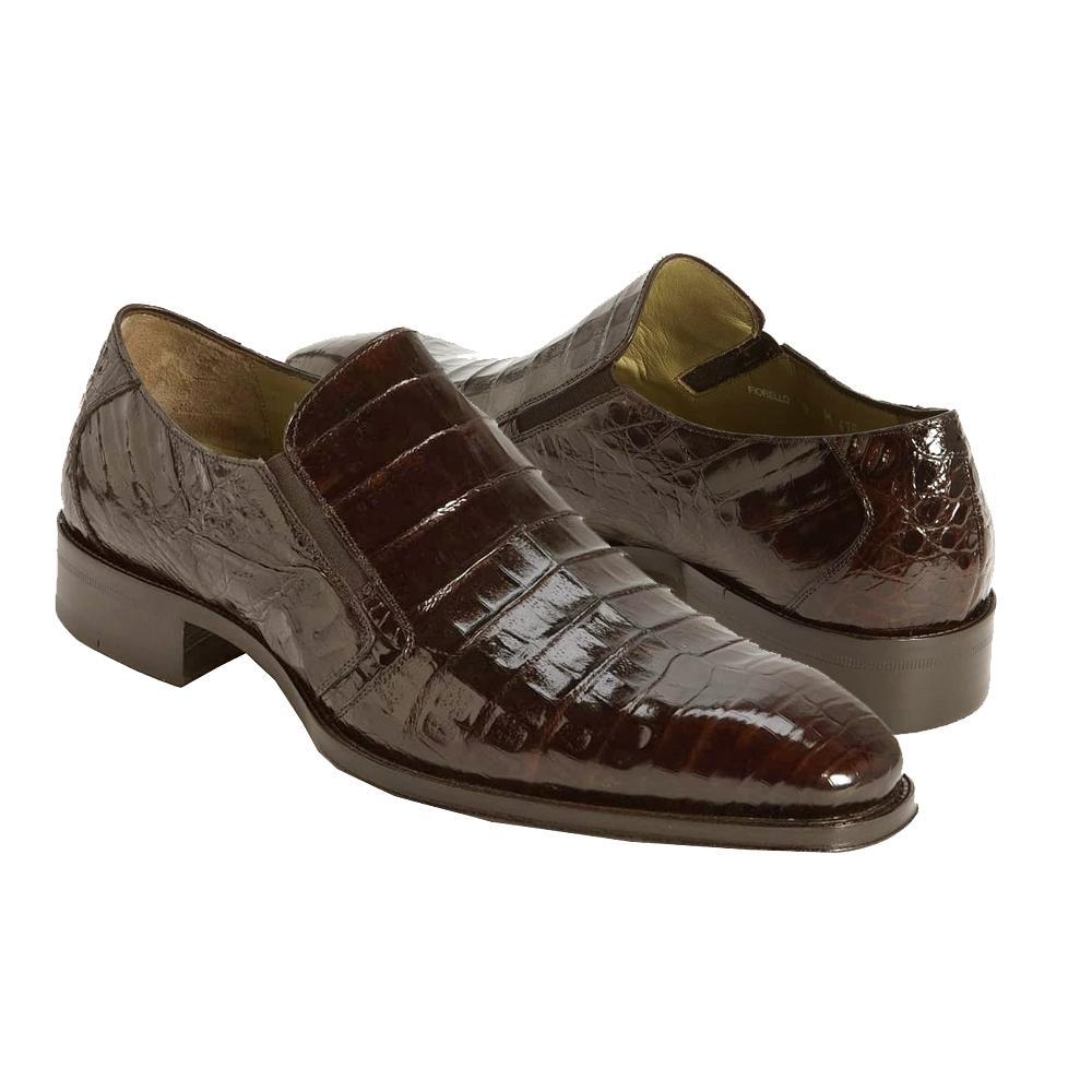 cf3d5936794 Mezlan Fiorello Dark Brown All-Over Genuine Crocodile Loafers 3589-F ...