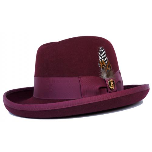 Bruno Capelo Burgundy Australian Wool Godfather Dress Hat GF-104