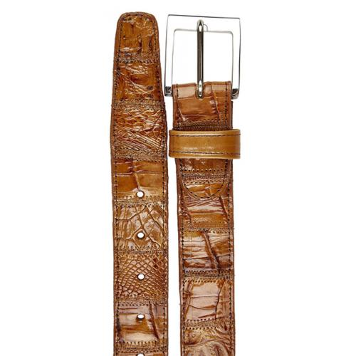 Belvedere 2018 Honey Patchwork Crocodile Belt.