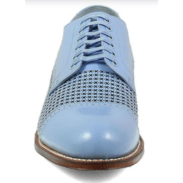 Stacy Adams Madison Shoes Cap Toe Oxford Chalk Blue 00905-493