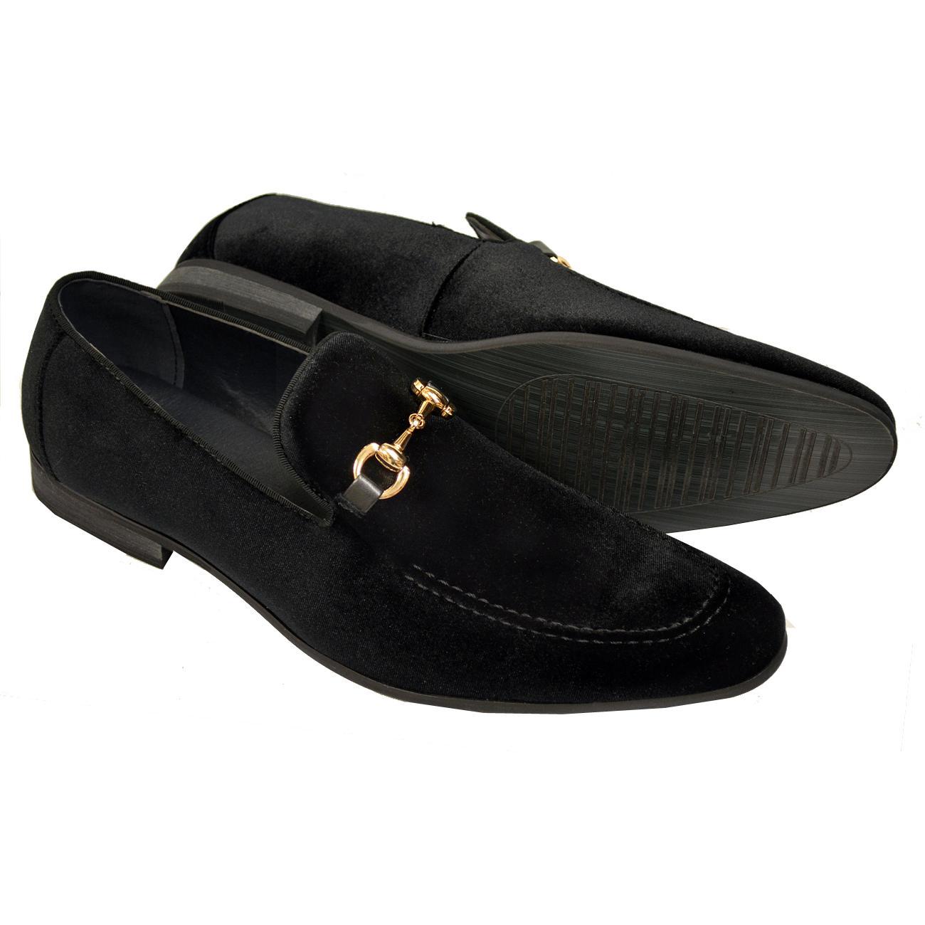 La Milano Barney Black Velvet Slip-On