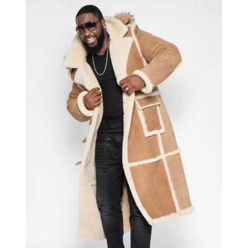G-Gator Genuine Sheepskin Hooded Full Length Overcoat 6000H.