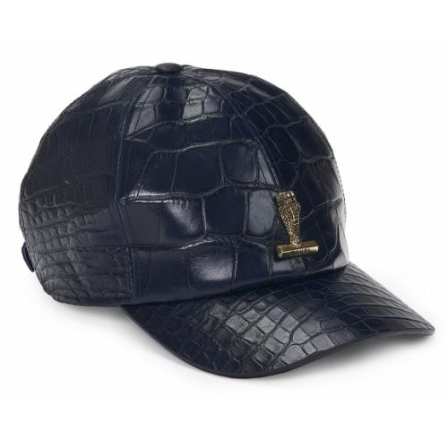 Mauri H-65 Wonder Blue Genuine Body Alligator Hat.
