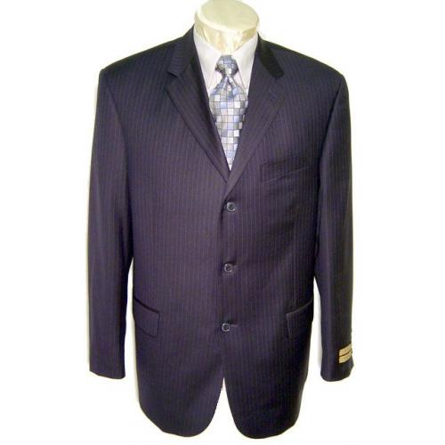 Giorgio Cosani Navy/Chalk Pinstripes Super 150's Cashmere Wool Suit