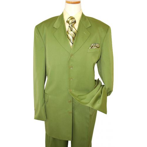 Soho Solid Mint Green Super 100's Rayon Blend Suit