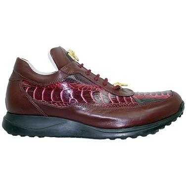Mauri 8900 Ruby Red Bicolore Ostrich Leg And Nappa Leather