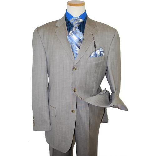 Giorgio Cosani Grey/Royal Blue Pinstripes Super 150's Cashmere Wool Suit 921
