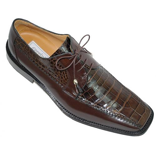 Ferrini 3746 Brown Genuine Alligator Shoes
