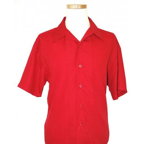 Pronti Red 100% Micro Polyester Shirt S2472