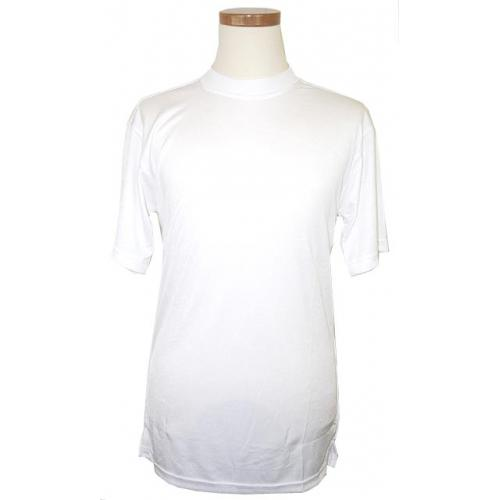 Pronti White Tricot Dazzle 100% Polyester Short Sleeve Shirt S1564