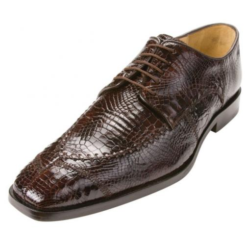 "Belvedere ""Monte"" Brown Genuine Alligator Shoes"