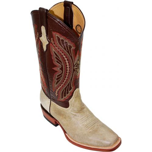 Ferrini  Bone Genuine Distressed Kangaroo Exotic  Boots 10871