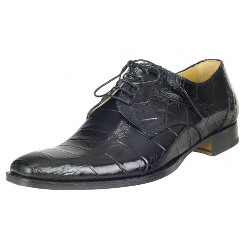 Mauri M508 Black Genuine All-Over Alligator Shoes