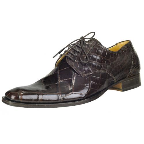 "Mauri ""Falco"" M508 Sport Rust Genuine All-Over Alligator Shoes"