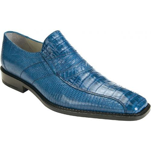 "Belvedere ""Gavino"" Jean Genuine Crocodile / Lizard Loafer Shoes"