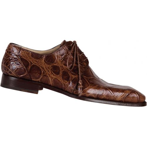 "Mauri  ""Gallery"" 4301 Camel Genuine Alligator Shoes"
