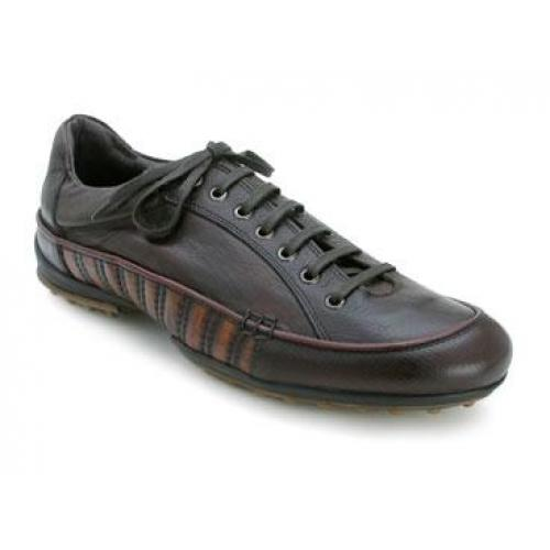 "Bacco Bucci ""Toews"" Dark Brown Genuine Leather Sport Shoes"