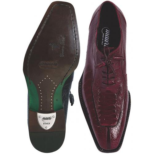 "Mauri  ""Bellini"" 4354/2 Ruby Red Genuine All Over Ostrich Leg Shoes"