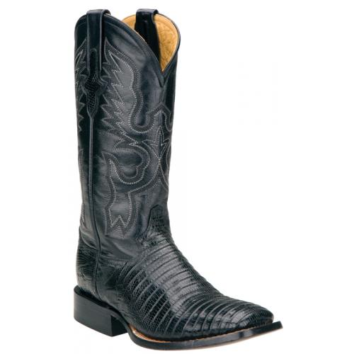 Ferrini Ladies 81193-04 Black Genuine Lizard Boots
