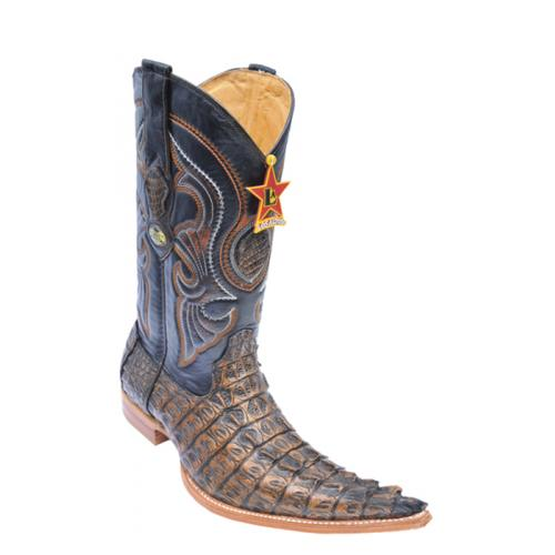 Los Altos Copper All-Over Genuine Crocodile Tail 6X Pointed Toe Cowboy Boots 960134