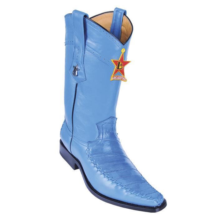 Genuine EEL Burgundy Round Toe Los Altos Mens Western Cowboy Boot 650806