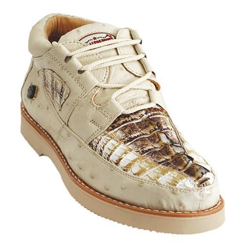 231c6b6a730 Los Altos Natural Genuine Crocodile / Ostrich Casual Shoes ZA050249