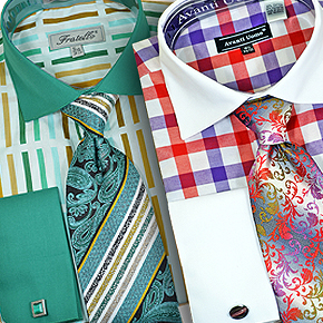 2 for $59.90! Shirt / Tie / Hanky / Cufflinks Set SALE