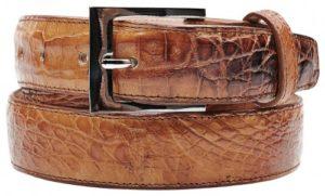 Belvedere 1999 Camel All-Over Genuine Hornback Crocodile Belt