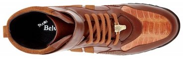 Belvedere Rino Honey Genuine Crocodile : Suede : Soft Calf Casual Sneakers