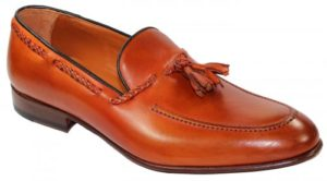 Emilio Franco 409 Orange Genuine Calf Loafer Shoes With Tassel