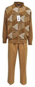 Stacy Adams Camel : White Zip-Up Sweater Outfit With Elbow Patches 3376