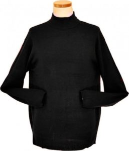 Bagazio Black Mock Neck Sweater Shirt