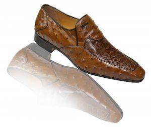 Mauri Kangoo Tabac Genuine Ostrich / Ostrich Leg Shoes