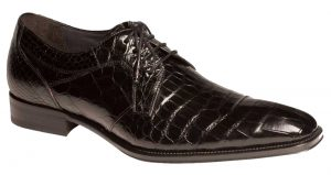 "Mezlan ""Luciano"" Black Genuine Alligator Oxford Shoes"