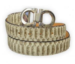 G-Gator Natural Genuine All Over Python Skin Belt With G-Gator Buckle