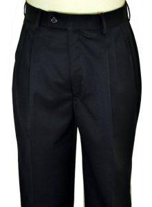Gianni Vironi Navy Blue Wool Dress Slacks MT-1600