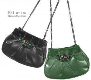 Mauri Ladies Genuine Crocodile:Nappa Leather Hand Bag With Bracelet