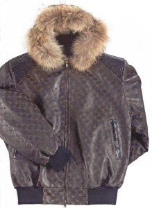 Mauri Winter Nappa Leather V71 Baby Crocodile Black Jacket