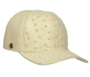 Los Altos WinterWhite Genuine Ostrich Baseball Hat G010304