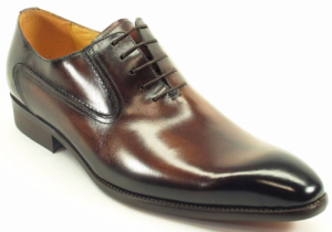carruci brown burnished calfskin oxford interview shoes